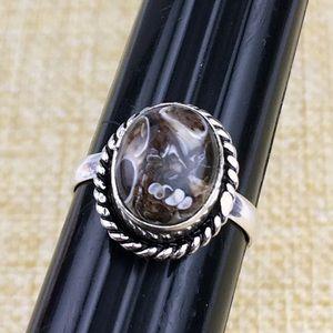 Turritella Agate Ring Size 7